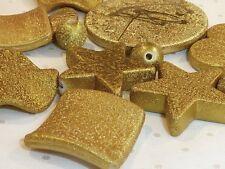 A Assortiment Pack de dorés acrylique perles avec CREPY finition B976