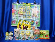 Sponge Bob Bubbles Party Set # 27 Cups Plates Napkins Tablecover Invite Stickers