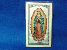 Estampita , Estampilla ,Stamp ORACION  DE LA MARIA SANTISIMA DE GUADALUPE
