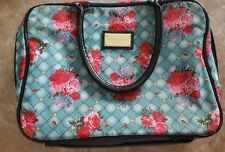 Betsey Johnson Floral Roses Cosmetic Makeup Travel Storage Bag Case