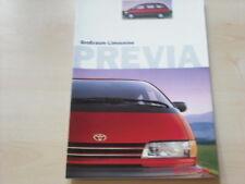 54369) Toyota Previa Prospekt 10/1996