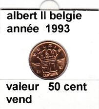 BF 1 )pieces de 50 cent belgie  1993 albert II
