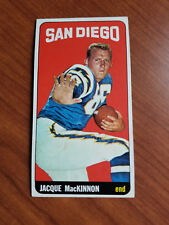1965 Topps Football #167 Jacque MacKinnon -San Diego Chargers