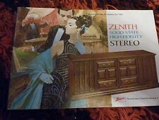 Vintage 1969 Zenith Solid State High Fidelity Stereo Brochure