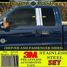 1999-2016 FORD F250 F350 Extended Super Cab STAINLESS STEEL Pillar Posts Covers