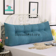 Bed Twin Big Long Reading Pillow Cushion Backrest Cushion Large Waist Pillow