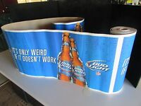 NEW 30' Bud Light NFL Football Iconic Decorative Roll Banner Beer Bar Budweiser