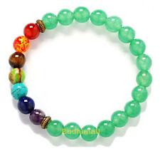 Light Green Chakra Healing Balance Beads Reiki Prayer Yoga Bracelet