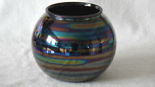 Italy Rosenthal Netter Spherical Round Glass Vase Gorgeous Iridized Colors