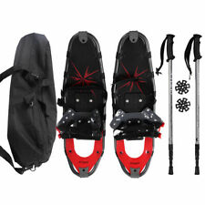 Goplus 27'' All Terrain Sports Snowshoes with Walking Poles and Bag - Red