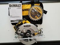 "DEWALT DCS570B 20V 20 VOLT MAX XR 7-1/4"" Lithium Brushless Circular Saw W/Brake"