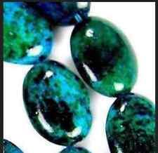 Fashion jewelry 10x14mm Azurite Chrysocolla Gem Oval Loose Bead 15''