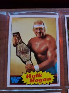1985 TOPPS WWE WWF WRESTLING COMPLETE 1-66 CARD SET WITH STICKER 1-22 MINT HULK
