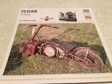 Carte moto Excelsior 100 Welbike armée 1944 collection Atlas Motorcycle UK