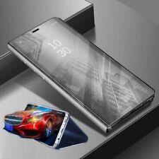 Para Xiaomi Poco Pocofone F1 Transparente Ver Smart Funda Plata Funda Wake Up