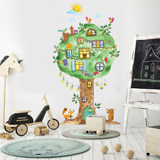 Cartoon Tree House Wall Sticker Baby Room Wall Decoration Art Decals Mural BF