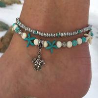 Vintage Bead Ankle Bracelet Shell Boho Anklet Women Foot Summer Beach Jewelry