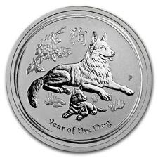 2018 Australia 1/2 oz Silver Year of the Dog BU (Series II)