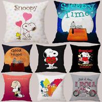 Home Decor Snoopy Pillowcases Cute Dog Sofa Car Bedroom Cushion Cover Pillowcase