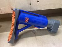 Nerf N-Strike Blue Extendable Shoulder Stock Extension Attachment Stockade