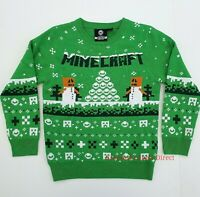 Boys Christmas Minecraft Gamer Jumper Children's Xmas Festive kids Age 5-15