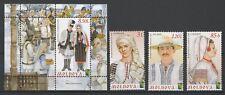 Moldova 2012 Traditional Costumes & Headdress 3 MNH Stamps + Block