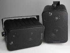 120 Watt Mini-Boxen - 3-Wege Lautsprecher mit Halterung schwarz Paarpreis