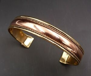 Bracelet réglable en cuivre et laiton Anti-Douleurs Arthrose Rhumatisme
