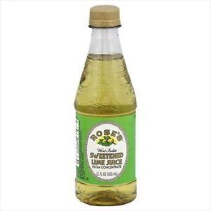 Roses Sweetened Lime 100% Juice,(1) 12 Oz