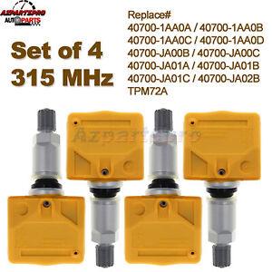 Set of 4 For Nissan Infiniti TPMS Tire Pressure Sensors 5502300 974022 974515