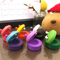 1Pc Cute Animal Shape Wooden Castanet Toy Musical Instrument For Children Kid~