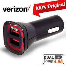 OEM Verizon Rapid Dual USB Car Charger 4.8A OEM Adapter Samsung LG HTC Note