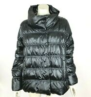 Eileen Fisher Ruched Puffer Coat Techno Satin Down Jacket Women Large NWT $438