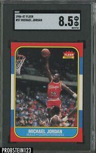 """1986-87 Fleer Basketball #57 Michael Jordan RC Rookie HOF SGC 8.5 """" LOOKS MINT """""""