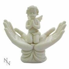 HEAVENS BABY ANGEL In Open Hands Statue Memorial Ornament Garden Figurine