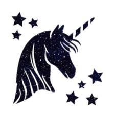 Unicorn & Stars Galaxy Iron On Transfer A5 Size