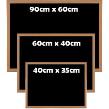 PREMIUM BLACKBOARD MAGNETIC WOODEN FRAMED OFFICE NOTICE MENU CHALK BOARD