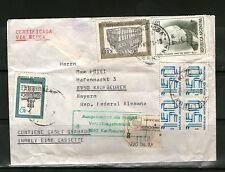 Certificada Argentina posta aerea per sdoganamento UFFICIO POSTALE 1979 Kaufbeuren Germania