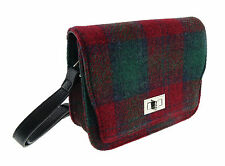 Ladies Red & Green Tartan 100% Harris Tweed Mini Bag Brand New LB1010 COL13