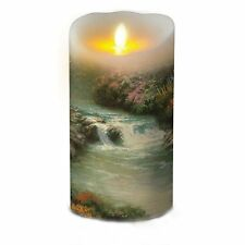 Flameless Wax Candle Lumina Moving Wick LED Candle With Timer and Remote