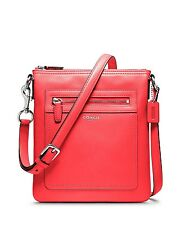 Sale NW/T AUTHENTIC COACH LEGACY LEATHER SWINGPACK BRIGHT CORAL 47989