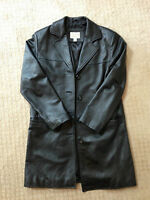 Women's Cabela's 100% Black Leather Coat-Size Small - Really Soft and Supple!