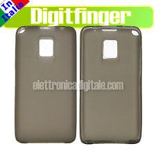 LG P990 Optimus Dual CUSTODIA Cover Guscio Case in TPU Gel GRIGIA Nuova