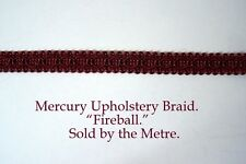 """Dark Red Upholstery Braid """"Mercury Fireball"""" 15mm wide (sold by the Metre)"""