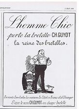 PUBLICITE ADVERTISING 044 1928 CH.GUYOT la bretelle de l'Homme Chic
