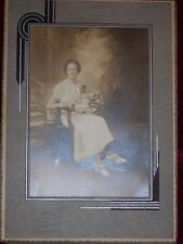 Antique photograph by Sun Ray photo studio Jersey City Girl Graduate