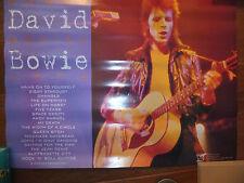 David Bowie original poster -Santa Monica withdrawn promo Rare