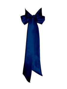 NAVY BLUE Satin Wedding Fancy Dress Party Ribbon Sash Tie Belt Band Bridesmaid
