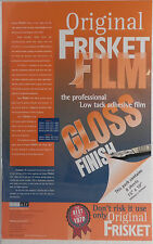 FRISKET FILM - GLOSS SHEETS (380mm x 250mm) PACK OF 8