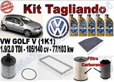 KIT TAGLIANDO OLIO ERG ONE 5W30 + FILTRI VW GOLF V 1.9/2.0 TDI DAL 2003 -->